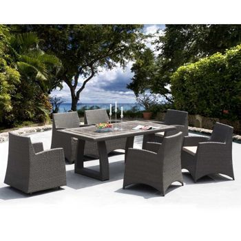 Sirio Hampton 7 Piece Dining Set Costco Ca Outdoor Dining Furniture Outdoor Rooms Patio Dining