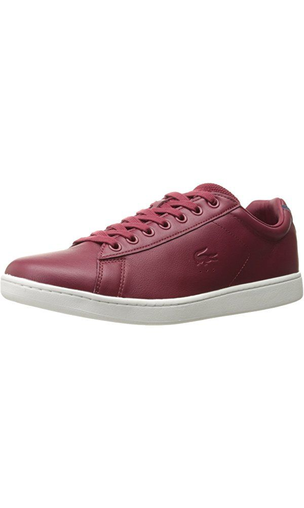 Lacoste Men's Carnaby Evo 117 1 Casual Shoe Fashion Sneaker, Dark Red, 13 M US Best Price