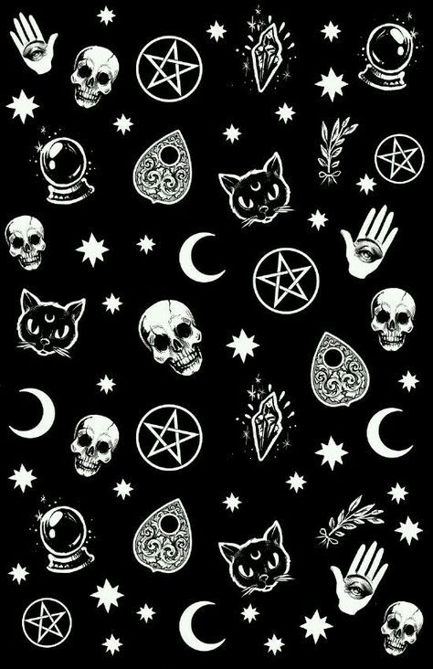 Halloween Wallpaper Tumblr.Witch Pattern Sticker By Medusa Dollmaker Fondosdepantalla Com