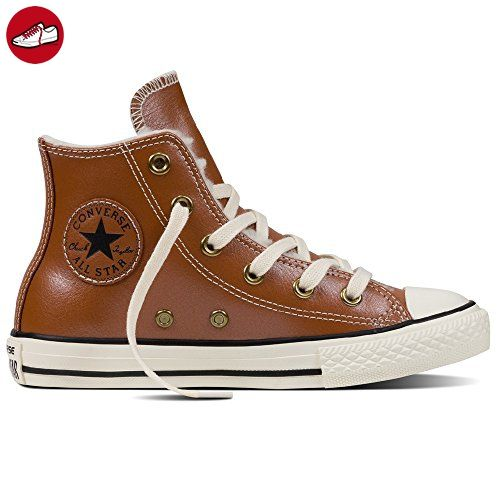 1e88f7fbb198e7 Converse Trainers - Converse Chuck Taylor Youth Leather All Star Shoes - Antique  Sepia (