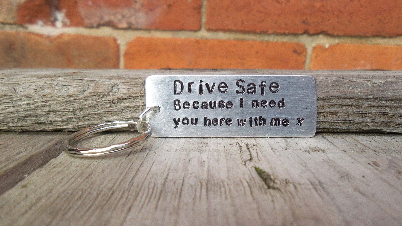 Drive Safe Keyring I BLOODY LOVE YOU Keychain Gifts For Him Boyfriend Husband ❤