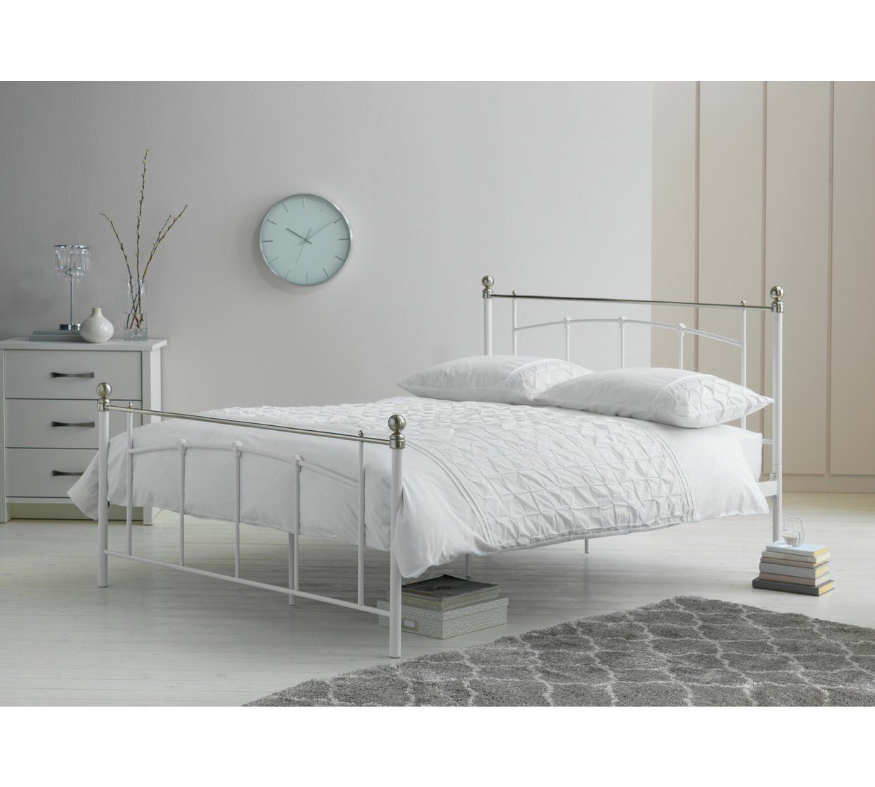 Buy Argos Home Yani Small Double Bed Frame White Bed