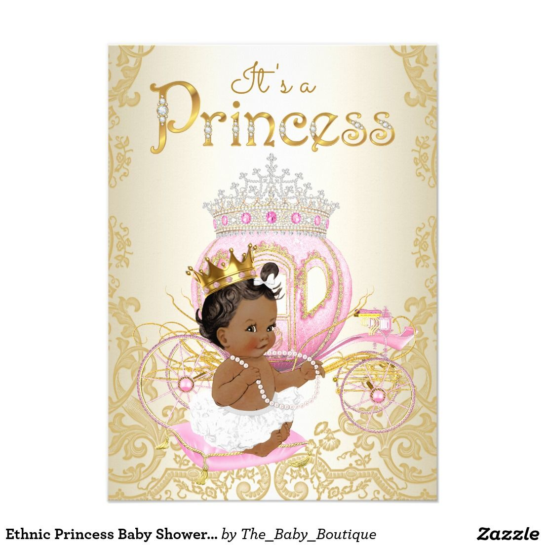 Ethnic Princess Baby Shower Invitations | Ethnic Girl Baby Shower ...