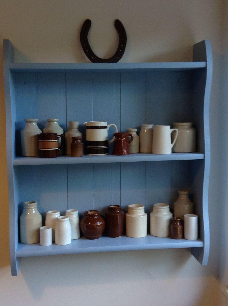 Farrow And Ball Lulworth Blue Shelf Unit