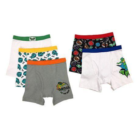Teenage Mutant Ninja Turtles Underwear 3 Pack Boxer Briefs for Boys