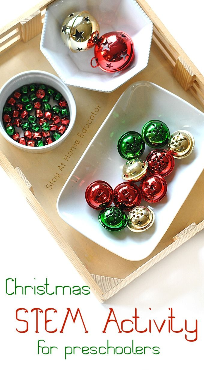 Quick and Easy Christmas STEM Activity for Preschoolers
