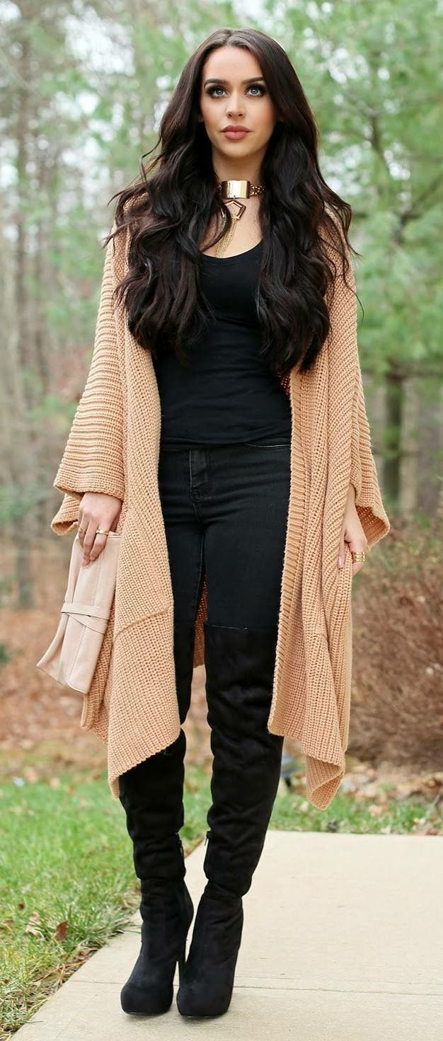 Oversized Sweaters High Fashion Ladies 2015 Models Trends Bloggers Sweater Weather Thigh Highs