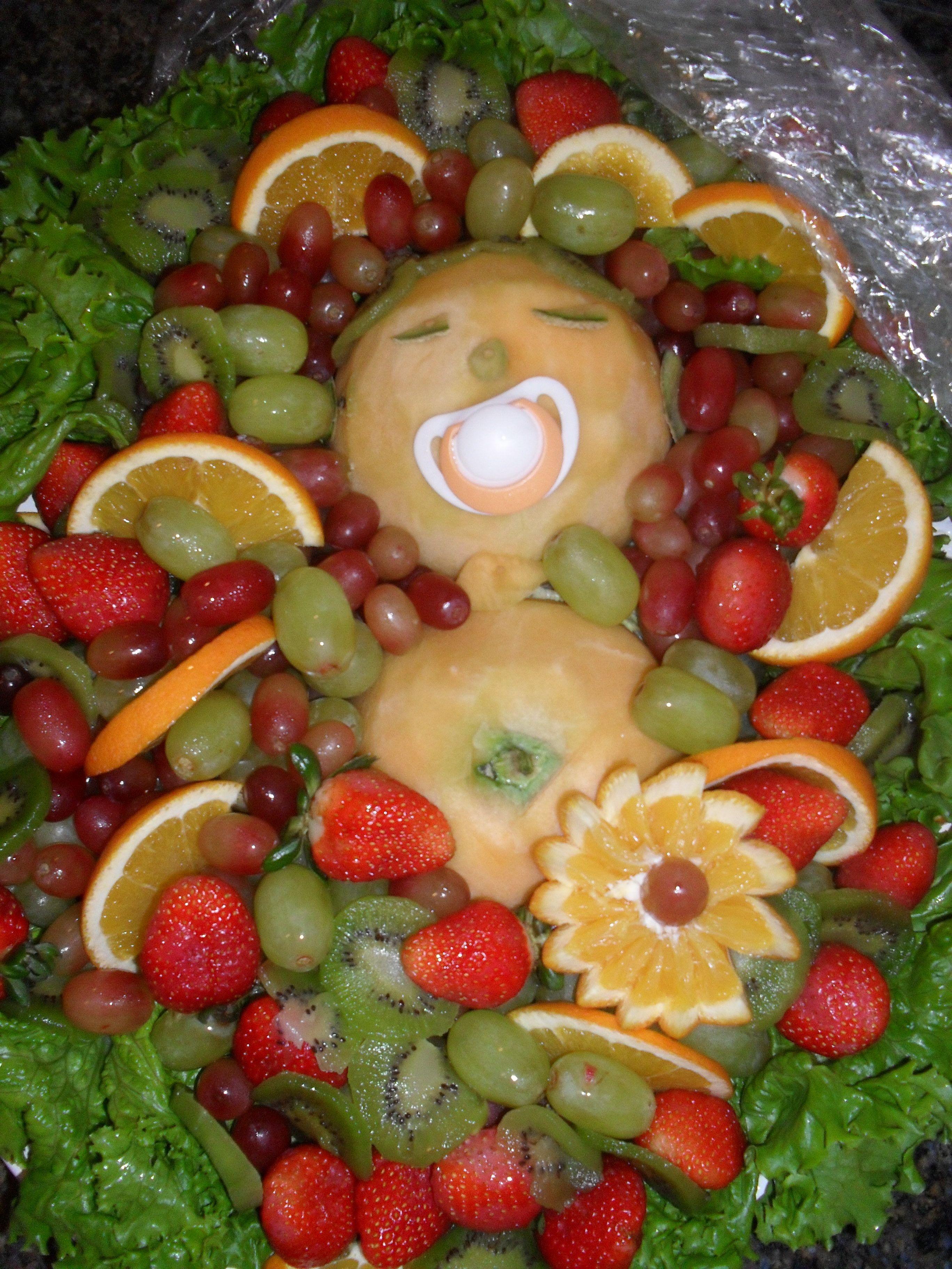 A Baby Shower Fruit Arrangement Made By My Friendu0027s Mother!