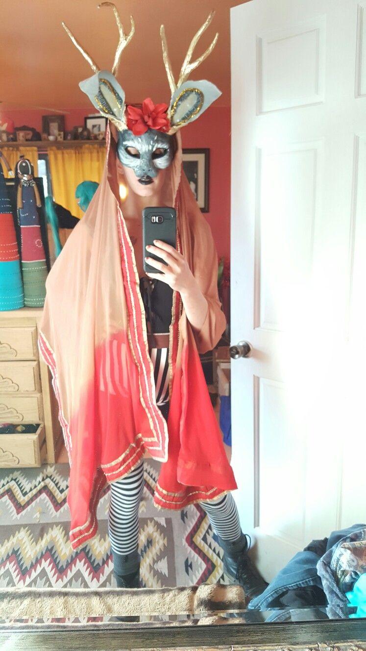My jackalope costume for halloween