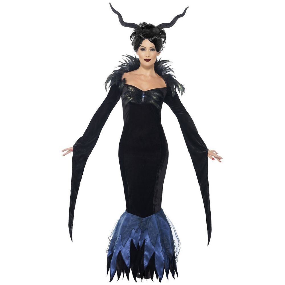 Sorceress Costume Adult Demon Witch Halloween Fancy Dress Outfit #Smiffys  sc 1 st  Pinterest & Sorceress Costume Adult Demon Witch Halloween Fancy Dress Outfit ...