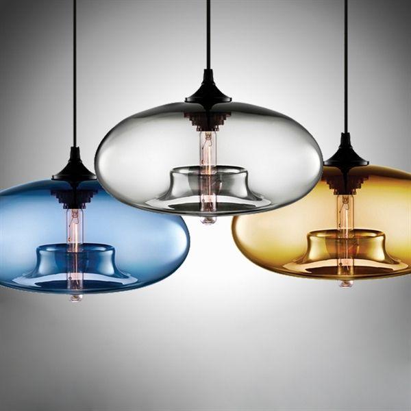 Lustre en verre D28cm moderne décoratif suspension en conception de