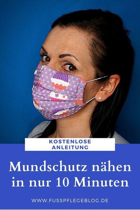 Mundschutz selber nähen - Anleitung | Fusspflegeblog
