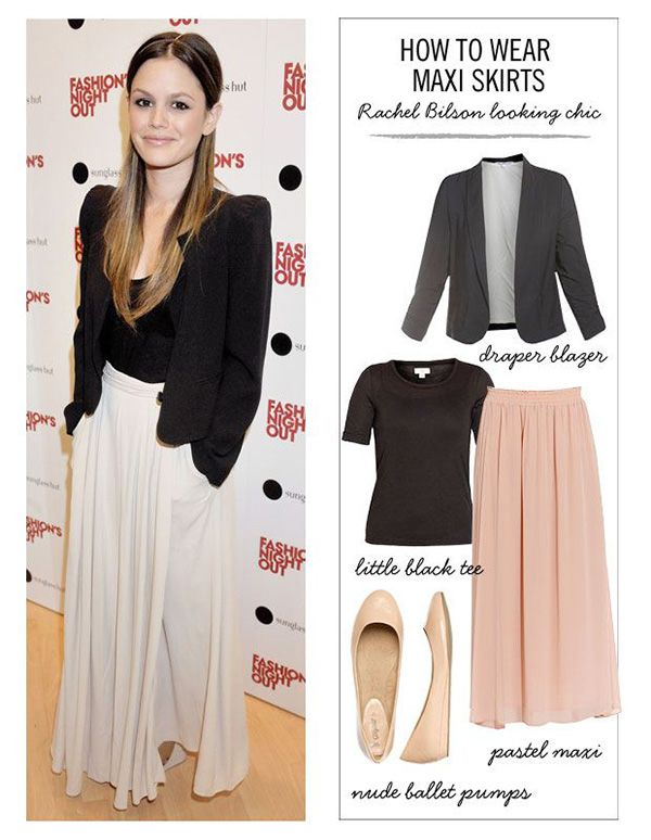 22 styling ideas for a maxi skirt.  I would've never thought of adding my suit jacket to one - plus other great ideas!