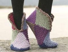 iKnitts: Patron para tejer una pantuflas de botita