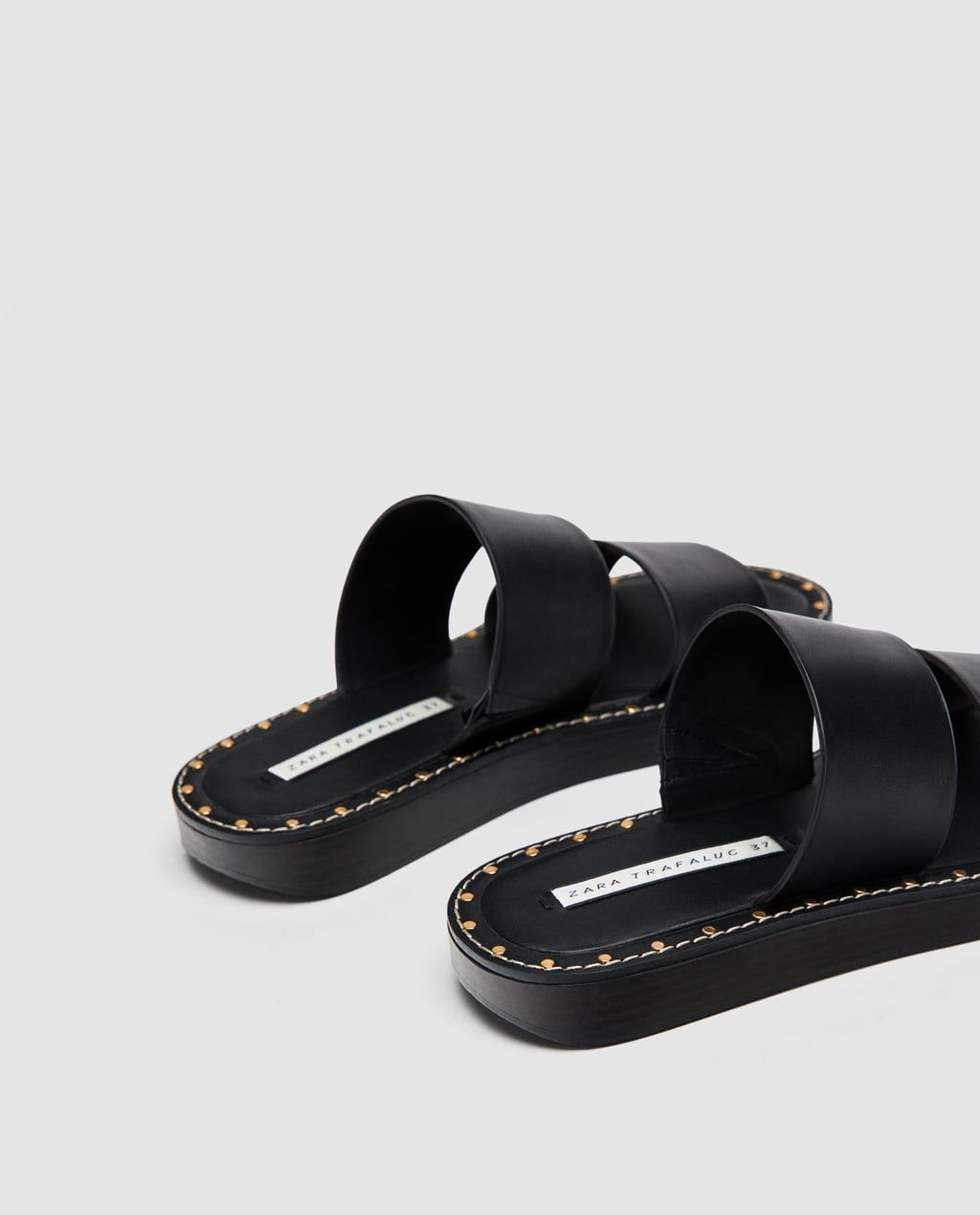 STUDDED SLIP-ON FLAT SANDALS-View all