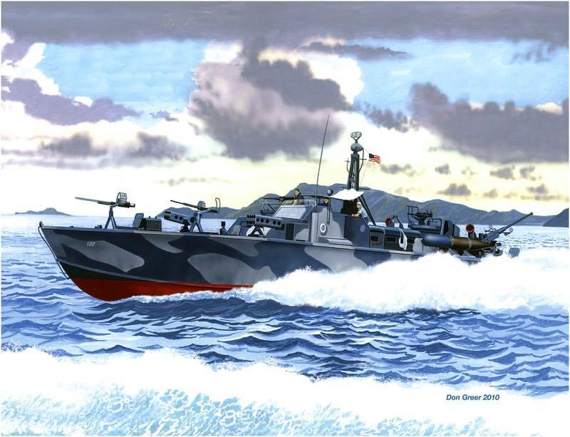 PT Boat off Corregidor, 1942
