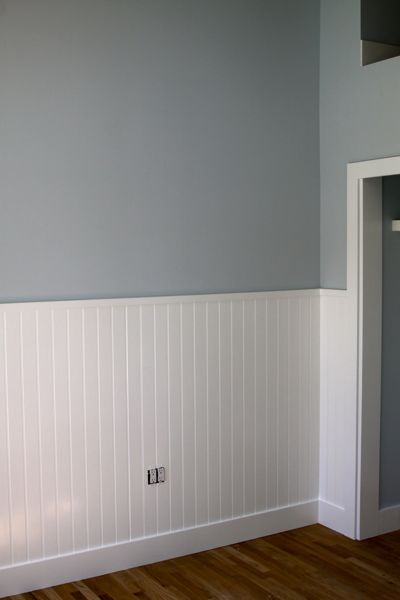 Beadboard As Wainscotting For Wall In Playroom So Kids Don