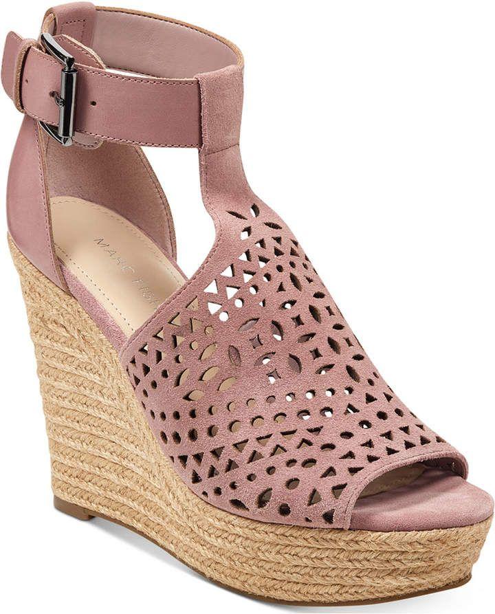 50e6abb644c2 Marc Fisher Hasina T-Strap Platform Wedge Sandals Women s Shoes ...