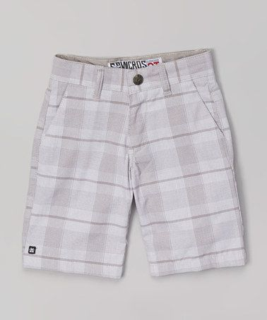 Look at this #zulilyfind! White Plaid Shorts - Toddler & Boys #zulilyfinds