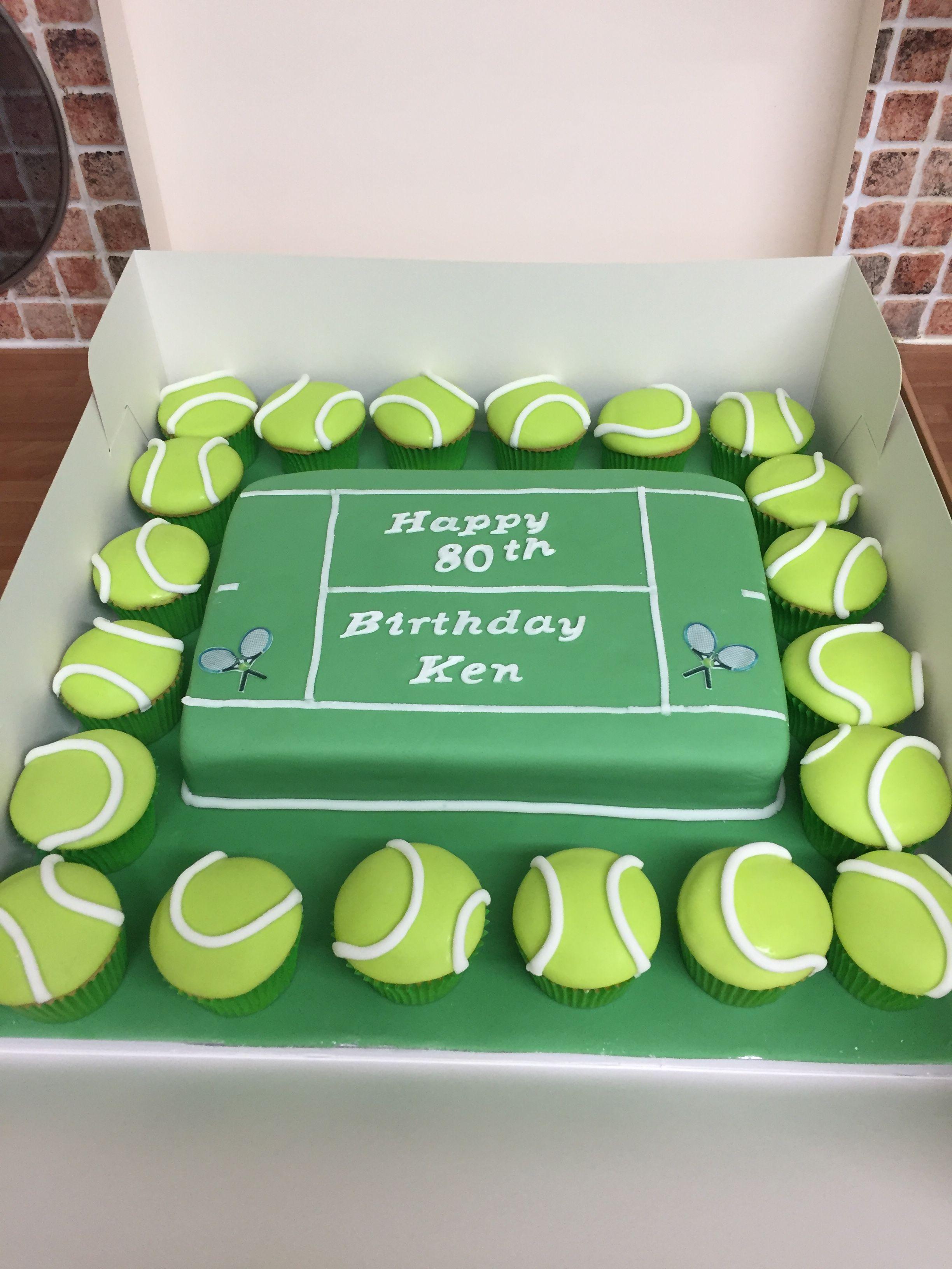 Strange Tennis Court 80Th Birthday Cake 80 Birthday Cake Fondant Cakes Funny Birthday Cards Online Alyptdamsfinfo