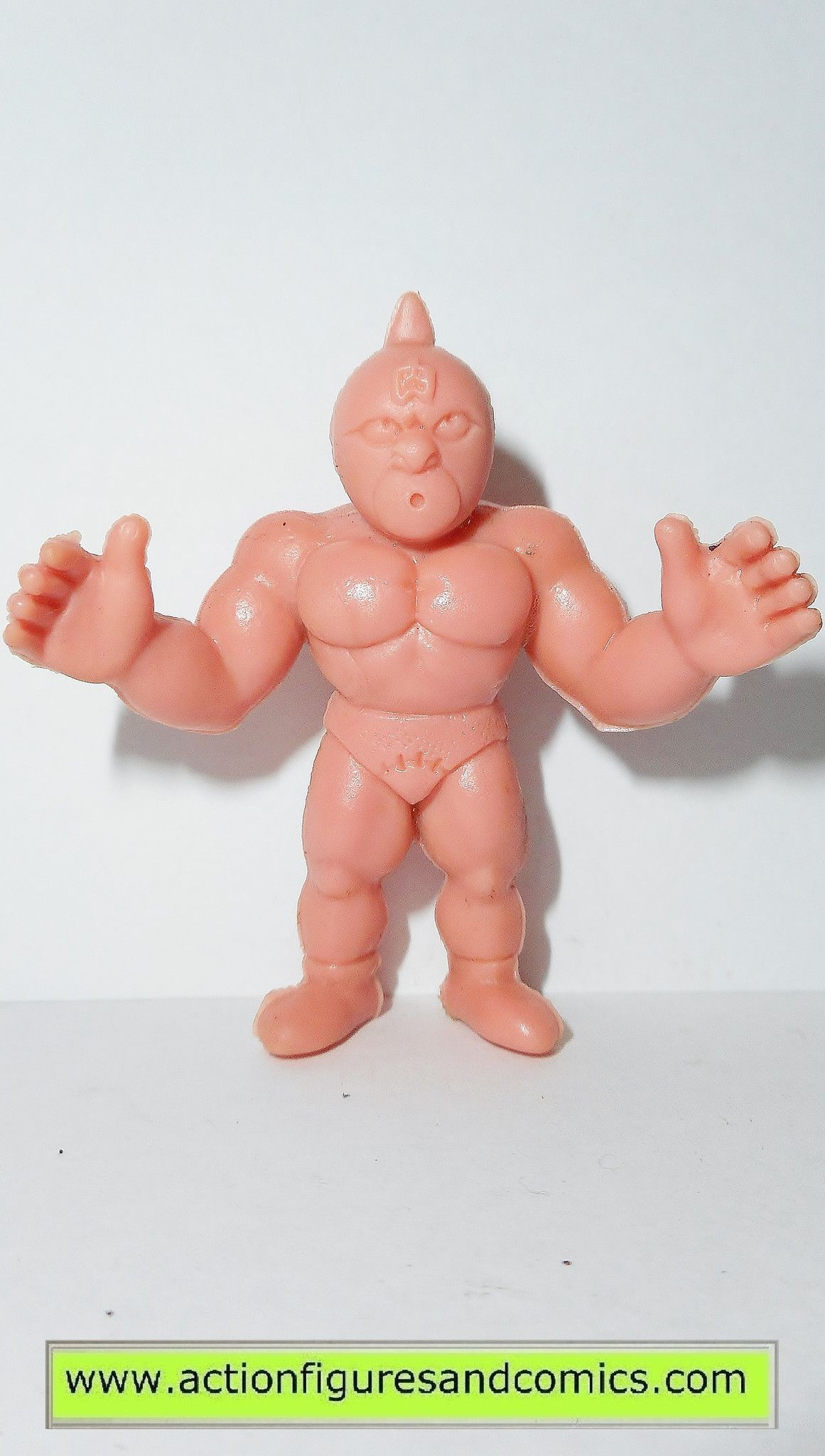"""Men Kinnikuman Flesh Color 2/"""" Haniwa Satan Figure #194 Mattel 80/'s M.U.S.C.L.E"""