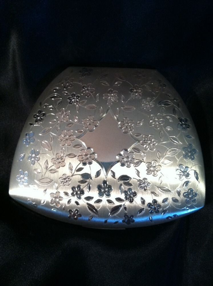 Elgin c1950s .925 Silver Sterling Clam Shell Vintage Compact w/ Original Box
