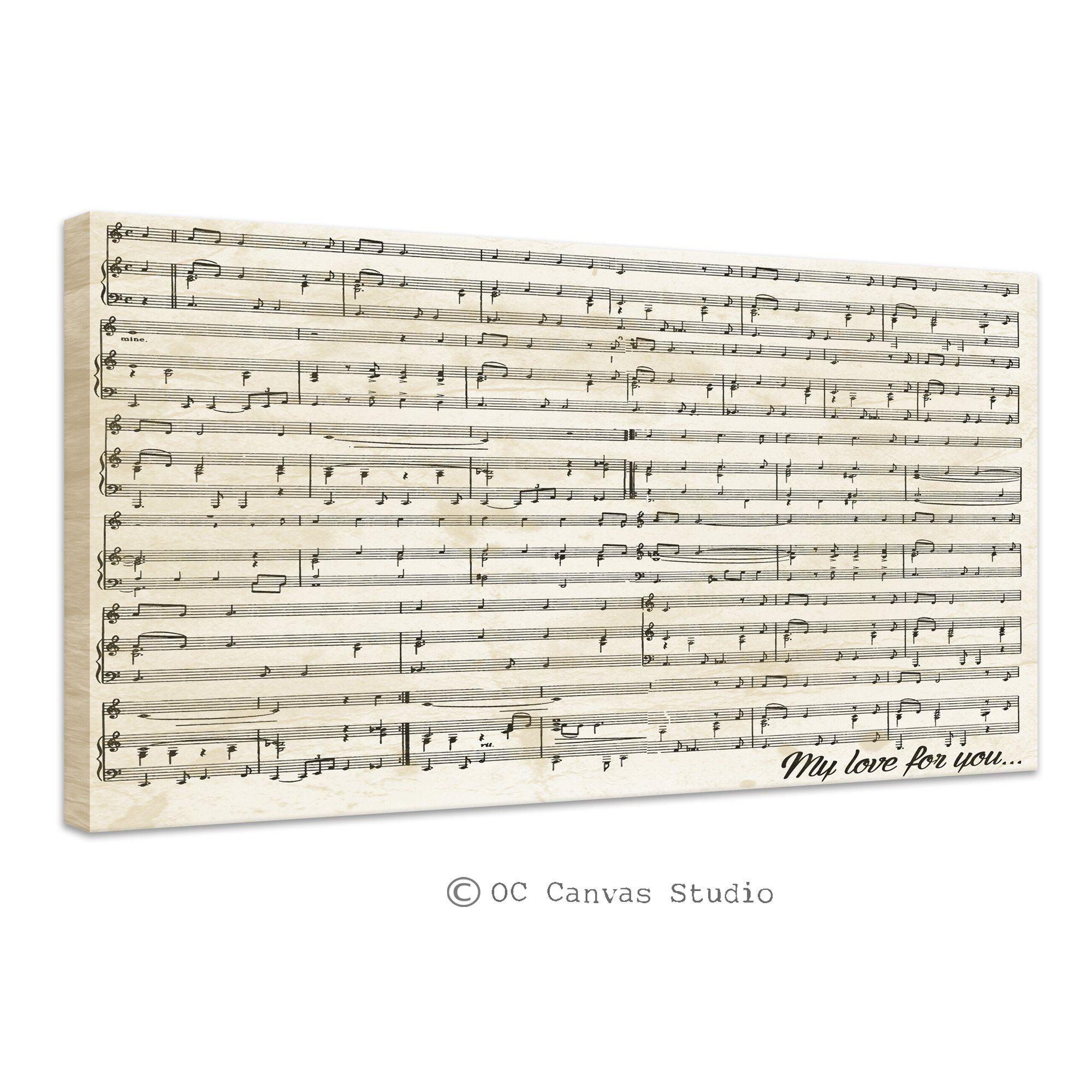 music sheets custom canvas print custom canvas art print cotton framed canvas print