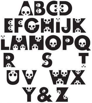 Skull Letters