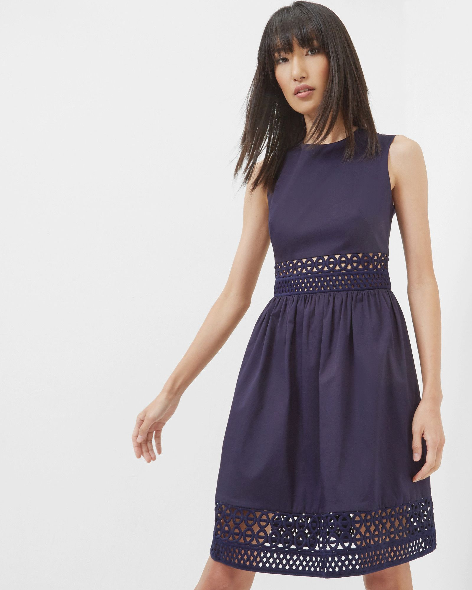 c59f1ae44f89 DAYZEY A-line lace panel dress  TedToToe Outlet Clothing