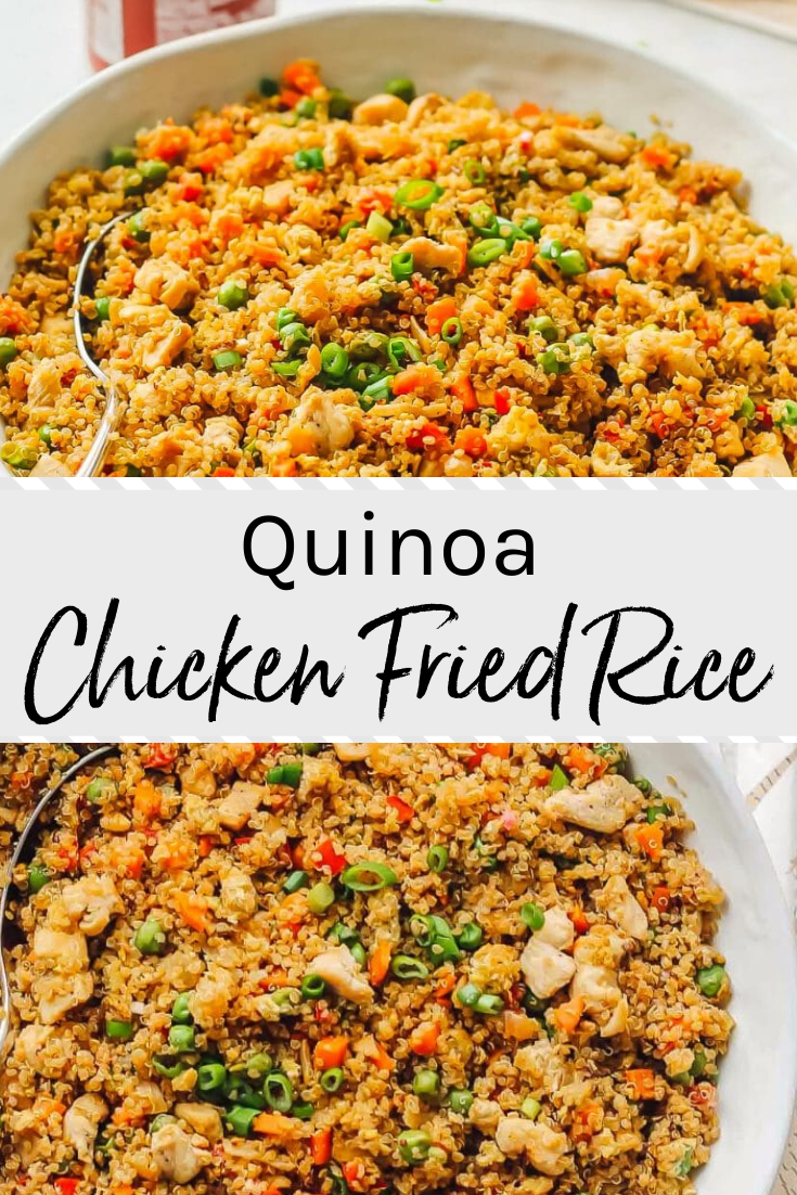Photo of This Quinoa Fried Rice Recipe is chocked full of veggies and chicken, making it …