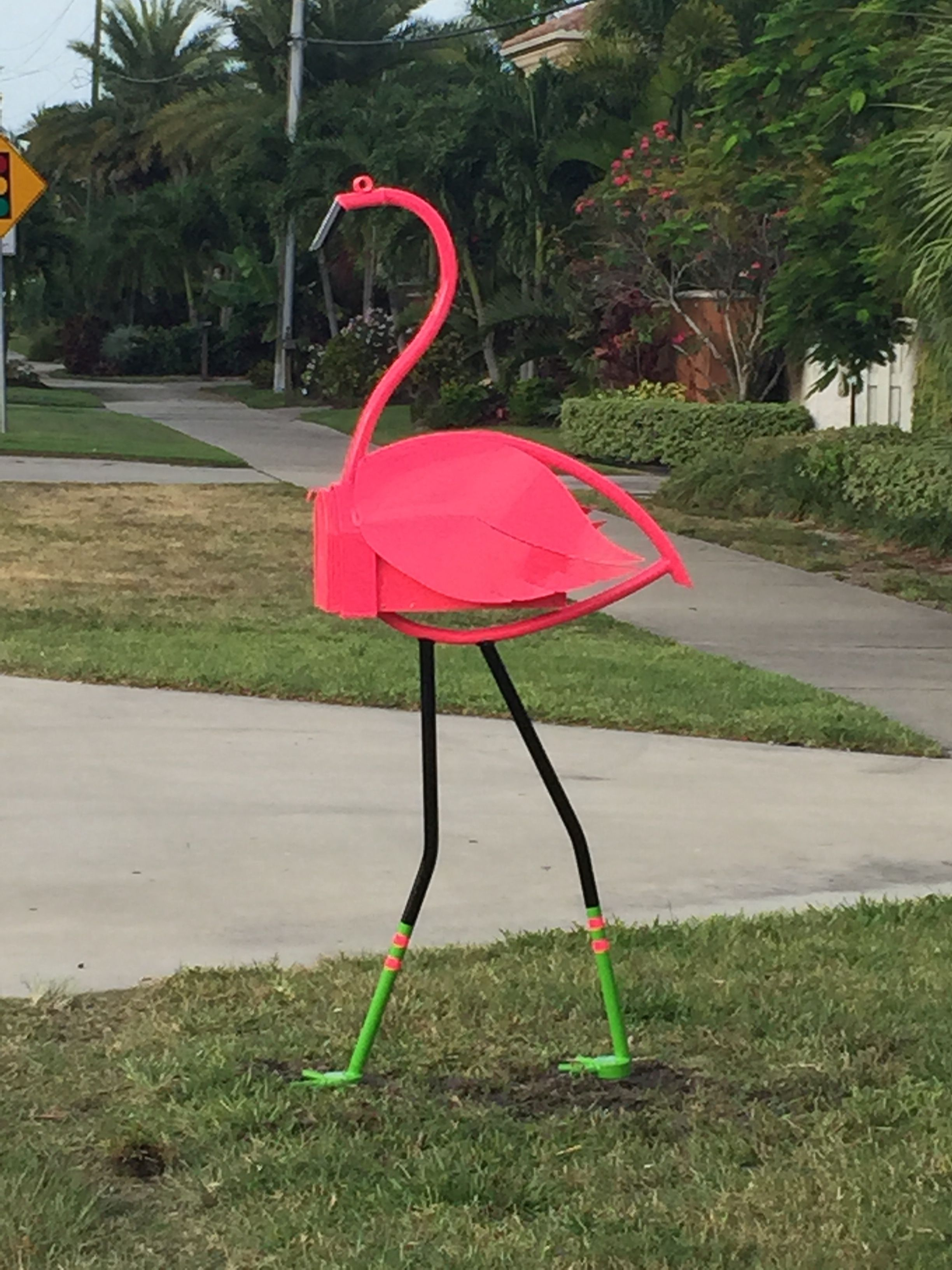 Flamingo Mailbox Tube Dude Flamingo Flamingo Garden Mailbox