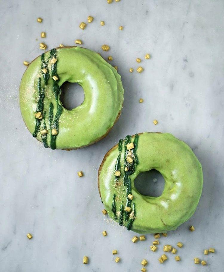 Matcha latte donuts delicious donuts green tea