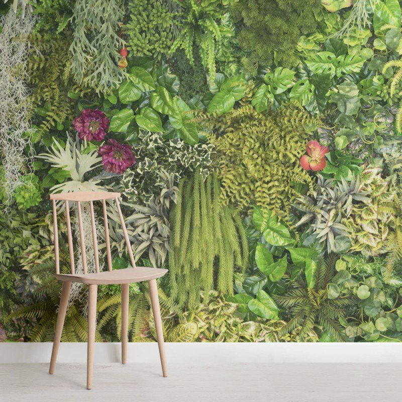 Sunkissed Jungle Leaves Mural Large floral wallpaper