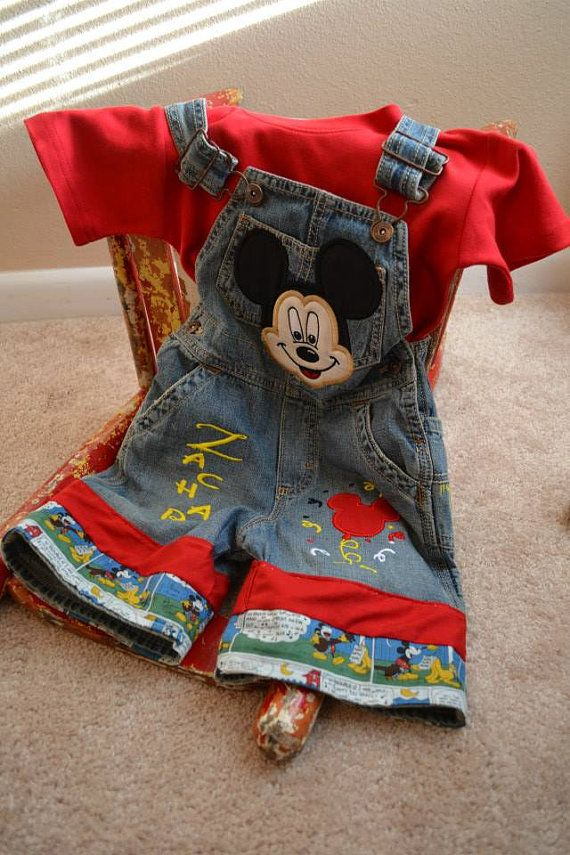MICKEY MOUSE BIRTHDAY Personalized Shortalls or Overalls 1st 2nd 3rd 4th birthdays on Etsy, $65.00