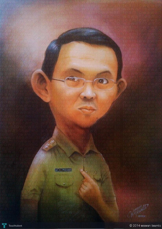 AHOK BASUKI T PURNAMA Creative Art Painting Touchtalentcom