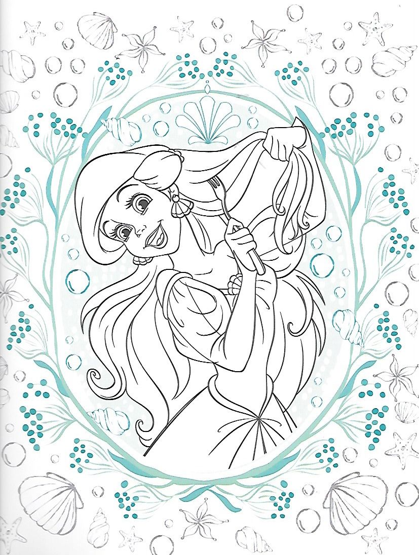 Pin de Мария en раскраски | Pinterest | La sirenita, Libros para ...