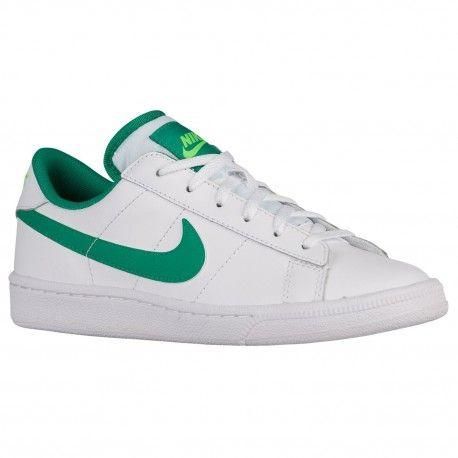Nike Tennis Classic Sneaker Grade School White/Green - Boys Shoes