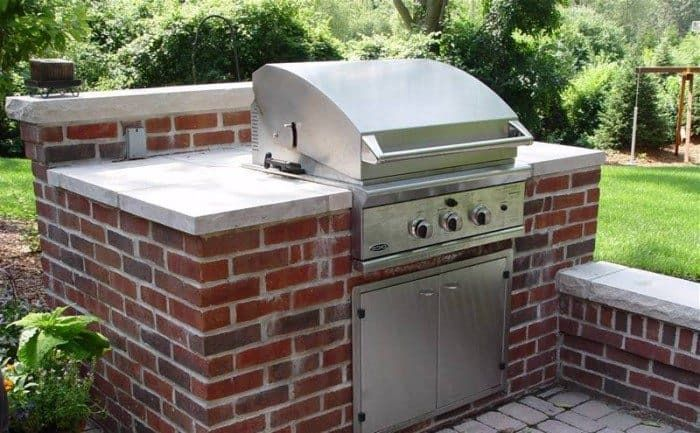 Outdoor Brick Bbq Grill Design Ideas In Landscaping And Building Category