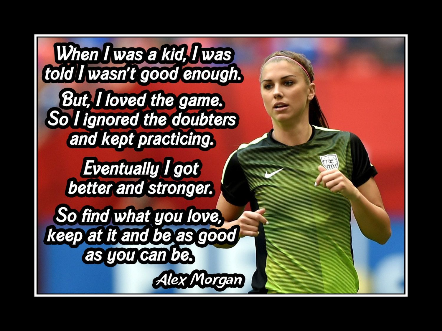 Soccer Inspirational Quote Poster, Champion Photo Wall Art