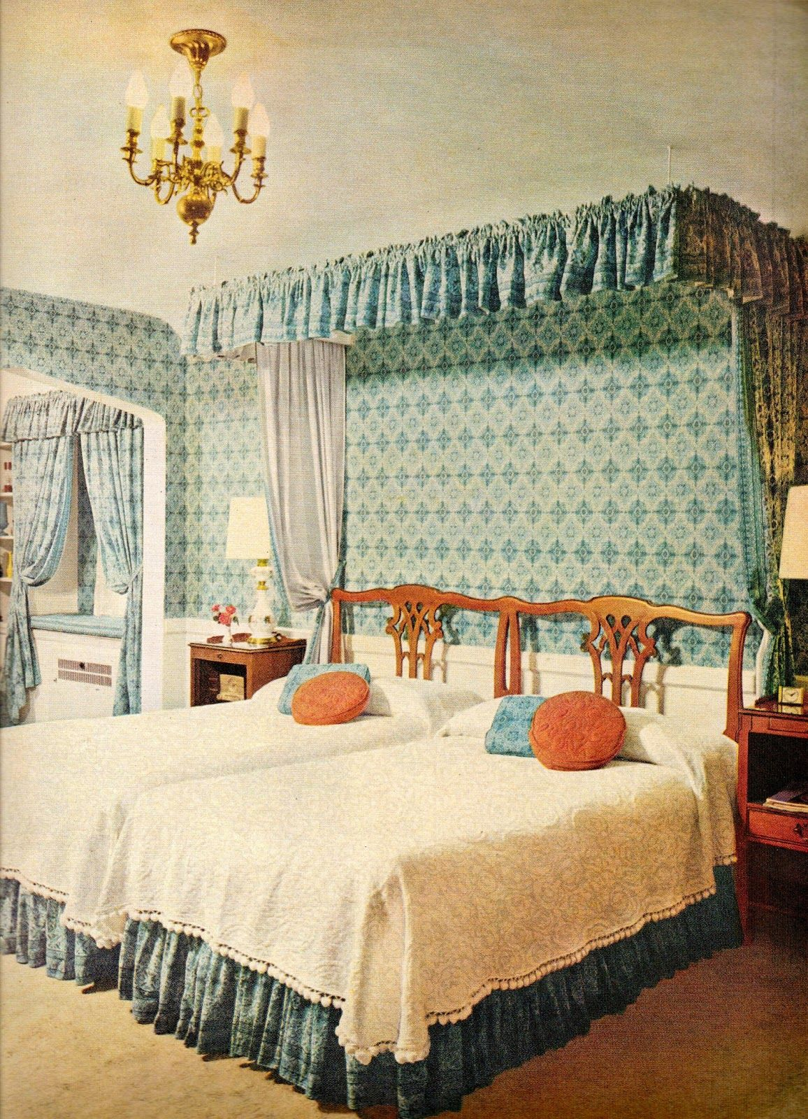 mid-century bedroom, old world contemporary, 1957 #retrohome