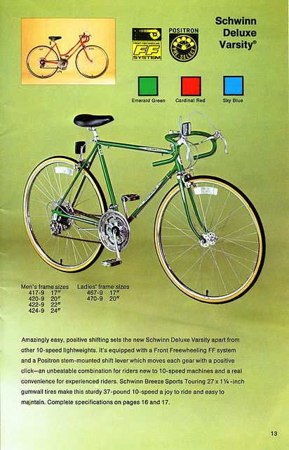 Schwinn Bicycle Catalog - 1980 | Bike Goodness | Bicycle