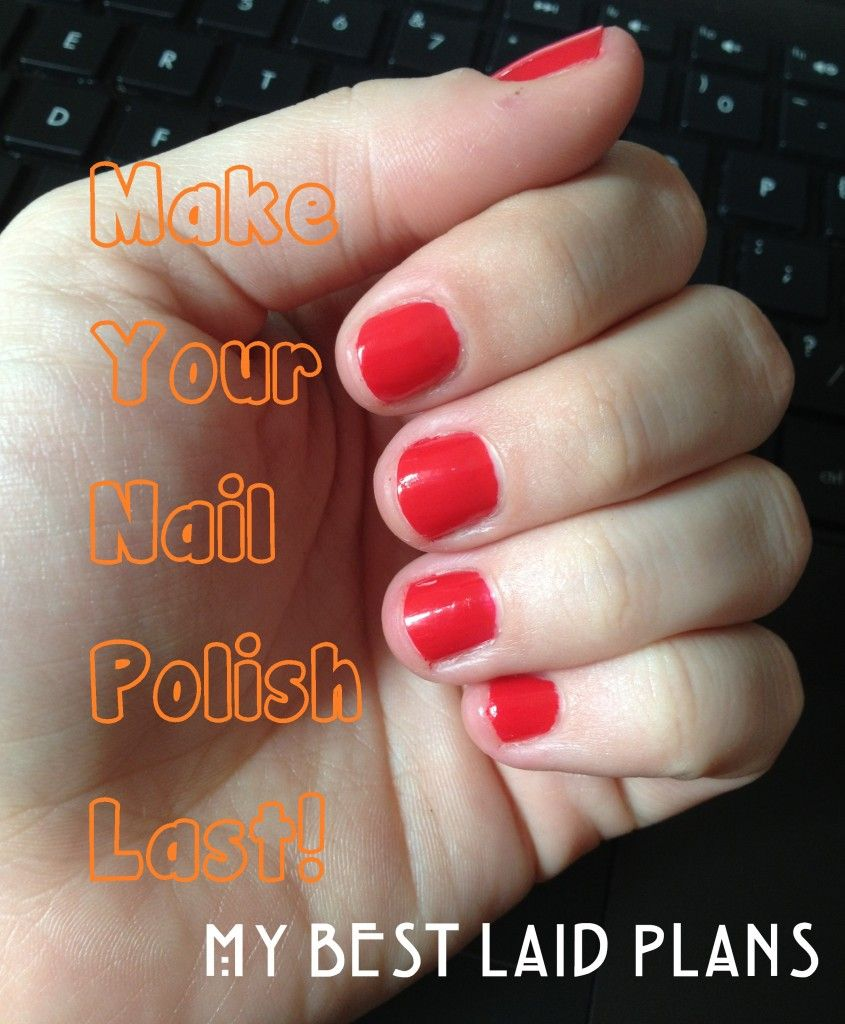 How to Make Your Nail Polish Last -- super easy trick! Soak nails in ...