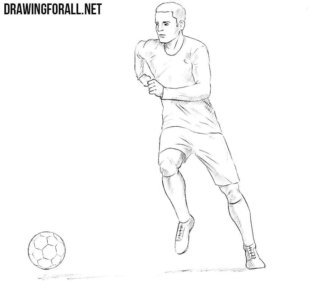 نتيجة بحث الصور عن Football Drawing Images Football Drawing Football Player Drawing Football Coloring Pages