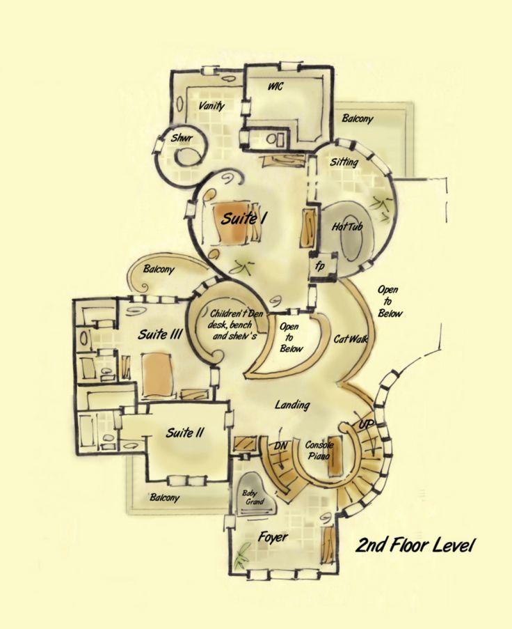 This Is Uniquely Awesome 181 2197 Custom House Plan Deja Vu Floor Plan B Jpg 862 1058 Cob House Plans Custom Home Plans House Floor Plans