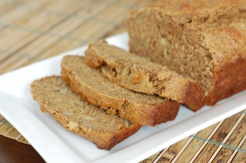 Whole-Wheat Banana Bread made with yogurt and a small amount of honey. Good foundation recipe, but needs a healthy dose of cinnamon!
