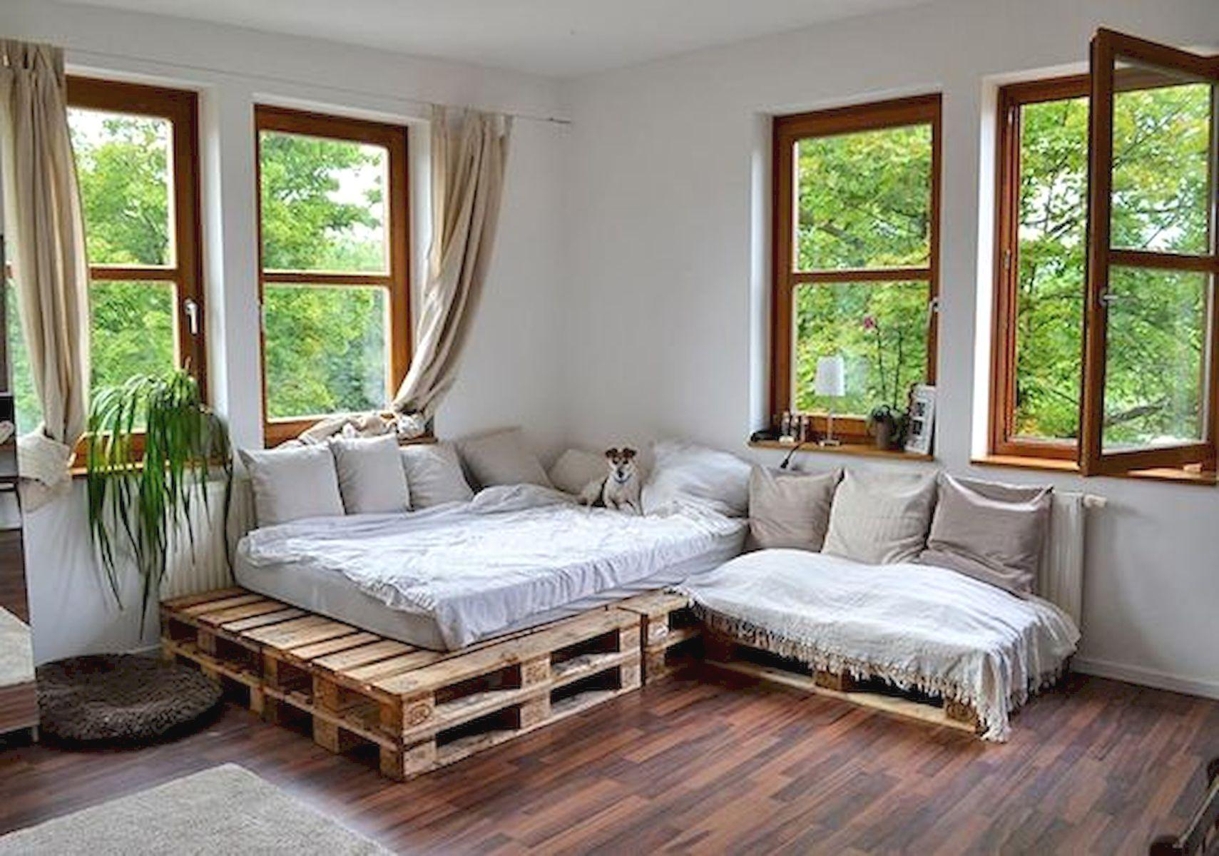 Easy DIY Pallet Bed ideas palletfurniture Sofa design