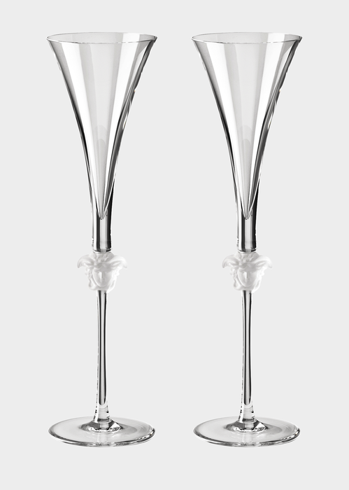 d4713c922eb Versace Medusa Lumiere Gb 2 Champagne Flute - Home Collection