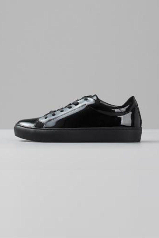 5ba77d1a04 Vagabond Zoe black patent leather lace-up sneaker versatile