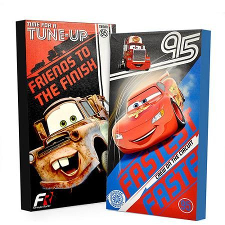 Disney Cars Glow in the Dark 2-Pack Canvas Wall Art - Walmart.com ...