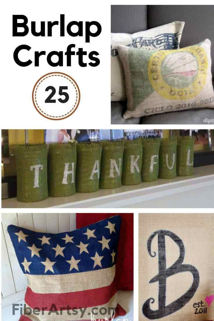 25 Fall and Thanksgiving Crafts with Burlap Fabric – FiberArtsy.com